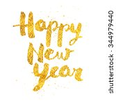 happy new year greeting card... | Shutterstock .eps vector #344979440