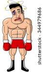injured boxer isolated | Shutterstock .eps vector #344979686