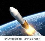 Cargo Launch Rocket Launch. 3d...
