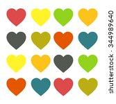 hearts | Shutterstock . vector #344989640
