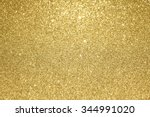 gold glitter background  | Shutterstock . vector #344991020