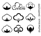 icons set indicating the cotton ... | Shutterstock .eps vector #344991599