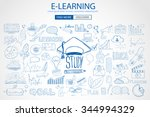 educational and learning... | Shutterstock .eps vector #344994329