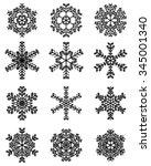 set of different black...   Shutterstock .eps vector #345001340