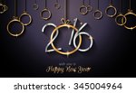 2016 happy new year and merry... | Shutterstock .eps vector #345004964