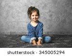 portrait of little fashion kid...