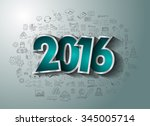 2016 business conceptual... | Shutterstock .eps vector #345005714