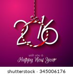2016 happy new year and merry... | Shutterstock .eps vector #345006176