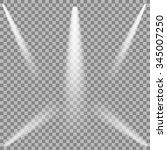 set of white spotlights...   Shutterstock . vector #345007250