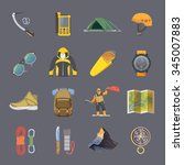 set of flat vector icons on the ... | Shutterstock .eps vector #345007883
