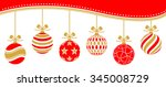 christmas baubles vector red...