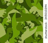 military pattern dinosaur. army ... | Shutterstock .eps vector #345010394