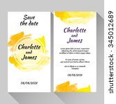 save the date card with hand... | Shutterstock .eps vector #345012689