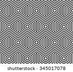 hexagons pattern  honeycomb... | Shutterstock .eps vector #345017078
