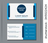 modern two sided visiting card  ... | Shutterstock .eps vector #345022424