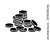pile of coins.vector... | Shutterstock .eps vector #345038246