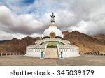 Tall Shanti Stupa Near Leh  ...