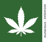 marijuana leaf icon or cannabis ... | Shutterstock .eps vector #345045104