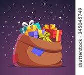 Santa Claus Sack Full Of Gift...