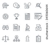 business and finance icon set... | Shutterstock .eps vector #345060644