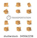 opened and closed old  worn and ... | Shutterstock .eps vector #345062258