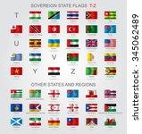 set of world sovereign state... | Shutterstock .eps vector #345062489