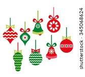 christmas ornaments vector. | Shutterstock .eps vector #345068624