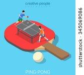 Ping Pong Table Tennis Flat 3d...