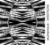 vector seamless abstract black... | Shutterstock .eps vector #345070250