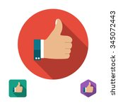 like icon. thumb up symbol. set ... | Shutterstock .eps vector #345072443