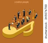 classic instrumental orchestra... | Shutterstock .eps vector #345076700