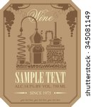 label for wine with wine... | Shutterstock .eps vector #345081149