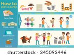 how to plan a party. | Shutterstock .eps vector #345093446