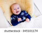 Funny Little Baby Relaxing In ...