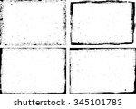 grunge frame texture set  ... | Shutterstock .eps vector #345101783