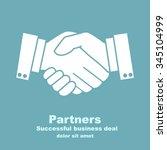 handshake businessman agreement.... | Shutterstock .eps vector #345104999