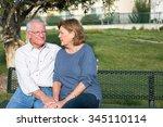 senior couple having a serious... | Shutterstock . vector #345110114