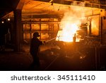 Steelworker When Pouring Liqui...