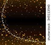 glittery golden festive...   Shutterstock . vector #345113540