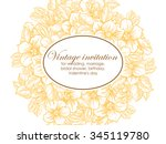 vintage delicate invitation... | Shutterstock . vector #345119780