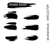 vector set of grunge brush... | Shutterstock .eps vector #345121709