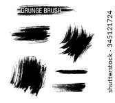 vector set of grunge brush... | Shutterstock .eps vector #345121724