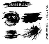vector set of grunge brush... | Shutterstock .eps vector #345121733