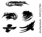 vector set of grunge brush... | Shutterstock .eps vector #345121784