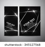 abstract shining. brochure... | Shutterstock .eps vector #345127568