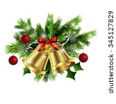 christmas decoration  with... | Shutterstock .eps vector #345127829
