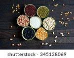 group of cereals  healthy food  ... | Shutterstock . vector #345128069