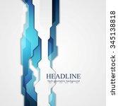 blue hi tech abstract...   Shutterstock .eps vector #345138818
