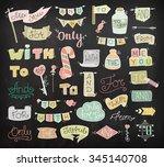 doodle calligraphic funny...   Shutterstock .eps vector #345140708