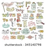 doodle calligraphic funny...   Shutterstock .eps vector #345140798